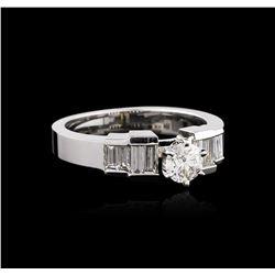 14KT White Gold 0.92 ctw Diamond Ring