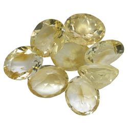 34.45 ctw Oval Mixed Citrine Quartz Parcel