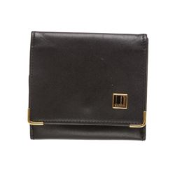 Dunhill Black Leather Small Coin Wallet Case