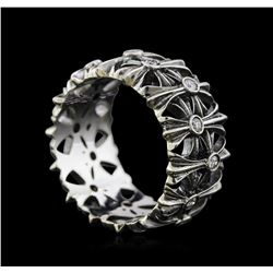 0.35 ctw Diamond Ring - 14KT White and Black Gold