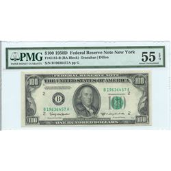 1950D $100 Federal Reserve Note New York PMG About Uncirculated 55EPQ