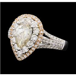 2.06 ctw Diamond Ring - 18KT Rose And White Gold