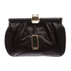 MCM Black Leather Small Clutch