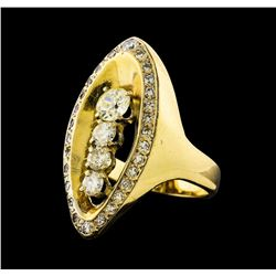 1.73 ctw Diamond Ring - 14KT Yellow Gold