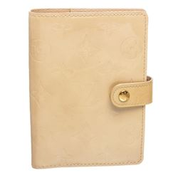 Louis Vuitton Beige Vernis Leather Small Agenda Cover