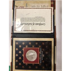 1986 Proof Silver Statue of Liberty Silver Dollar in Package with COA