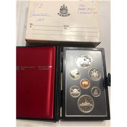 1981 Royal Canadian Mint Proof Set in Original Package and Box