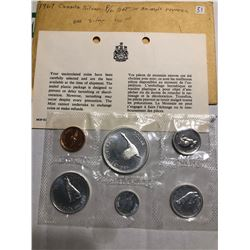 1967 Silver Canadain Proof Set with Animals Reverse in Original Package