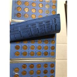 1941 to 1974 Lincoln Cent Coin Collection in Book has 59 Pennies