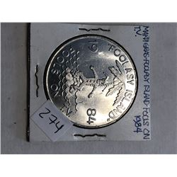 1984 Mardi Gras FOOLASY ISLAND Tafluma Marching Club Coin