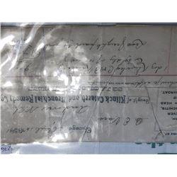 Original Pharmicutical 1891 Klinck Catarrh Bronchial Remedy Co Paperwork
