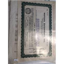 RARE 20 Shares 1945 Midtown Enterprises Stock Bond with Original Letter