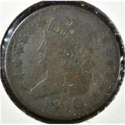 1810 HALF CENT, VF