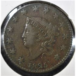 1825 LARGE CENT, XF