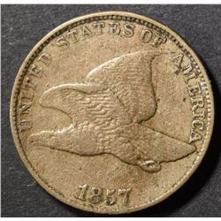 1857 FLYING EAGLE CENT, AU