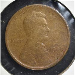 1909-S LINCOLN CENT, FINE