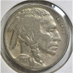 1917-D BUFFALO NICKEL, VF
