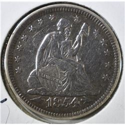 1854 WITH ARROWS SEATED QUARTER, AU