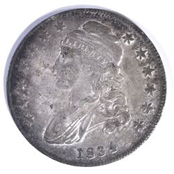 1834 BUST HALF DOLLAR, VF