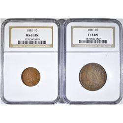 NGC GRADED CENT COLLECTOR LOT: