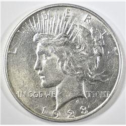 1923-D PEACE DOLLAR   AU/BU