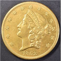 1852-O  $20 GOLD LIBERTY TYPE 1 AU++