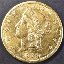 1883-CC $20 GOLD LIBERTY CH/BU