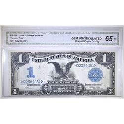 1899 $1 SILVER CERTIFICATE CGA GEM UNC OPQ