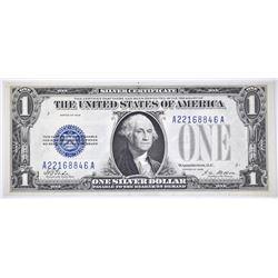 1928 $1 SILVER CERT FUNNY BACK GEM CU