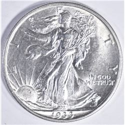 1933 S WALKING LIBERTY HALF DOLLAR GEM BU