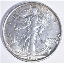 1918 D WALKING LIBERTY HALF DOLLAR CH BU