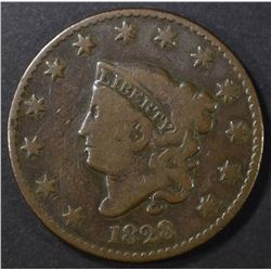 1828 LARGE DATE LARGE CENT, VG