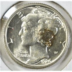 1926 MERCURY DIME, GEM BU