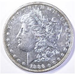 1886-S MORGAN DOLLAR, AU/BU