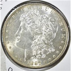 1887-S MORGAN DOLLAR, CH BU BETTER DATE