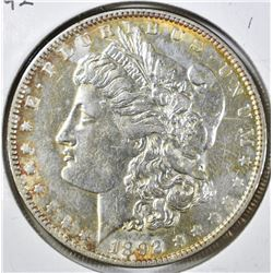 1892 MORGAN DOLLAR, BU+