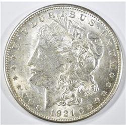 1921-S MORGAN DOLLAR, CH BU