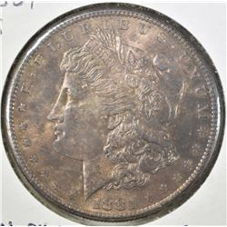 1881-S MORGAN DOLLAR  BU CHOICE  TONED