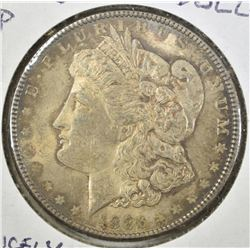 1886 MORGAN DOLLAR CH BU  NICELY TONED