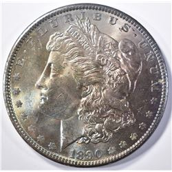 1890 MORGAN DOLLAR CH/GEM BU COLOR