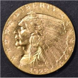 1928 $2.5 GOLD INDIAN CH BU