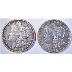1885-O AU & 1896-O XF MORGAN DOLLARS