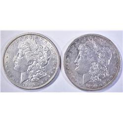1890-O & 91-O AU+ MORGAN DOLLARS