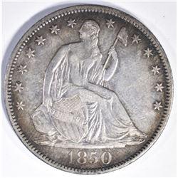 1850-O SEATED HALF DOLLAR, CH BU