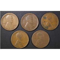 5-1922-D LINCOLN CENTS, GOOD+