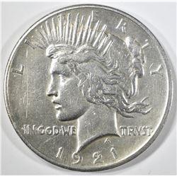 1921 PEACE DOLLAR  CH AU
