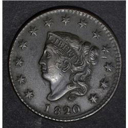 1820/19 LARGE CENT, AU+
