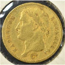 1811-A FRANCE GOLD 20 FRANC,  PARIS MINT