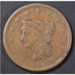 1841 LARGE CENT, FINE