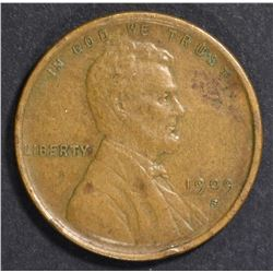 1909-S LINCOLN CENT, XF